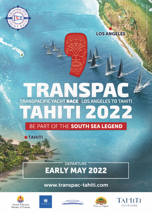 Affiche Transpac Tahiti 2020 - Be part of the South Sea Legend